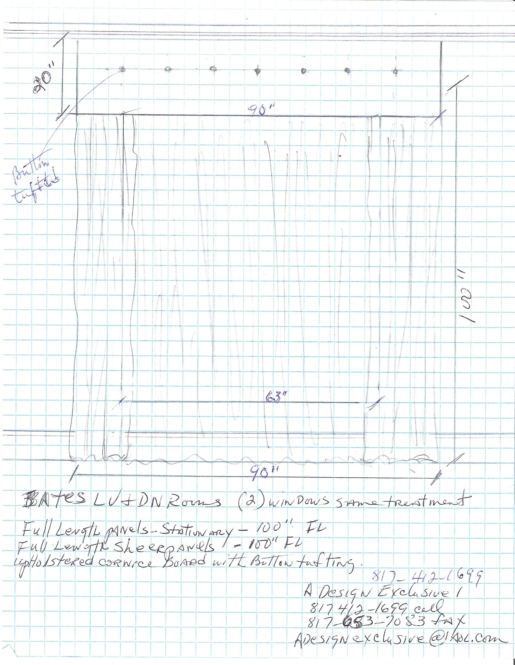 Proposed Window Treatment Sketch