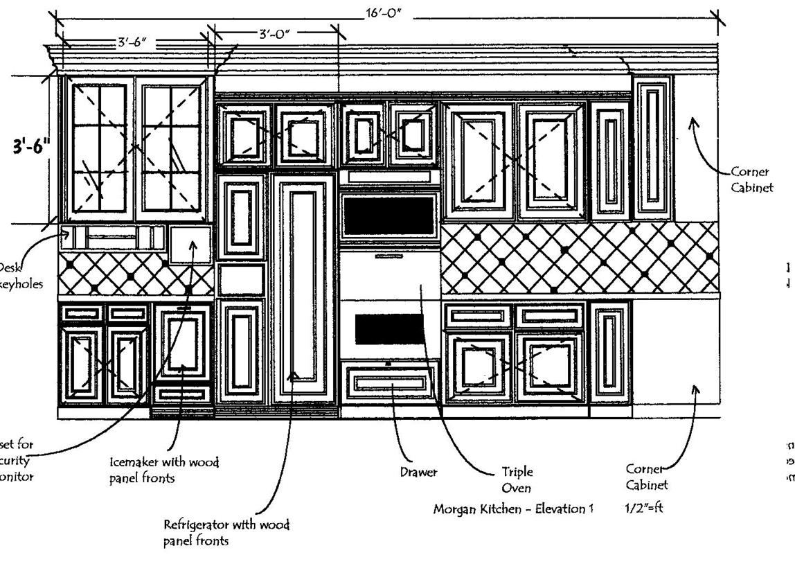 Kitchen Elevation - A Design Exclusive Interions
