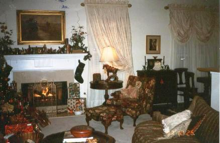 Formal Living Room with antiques