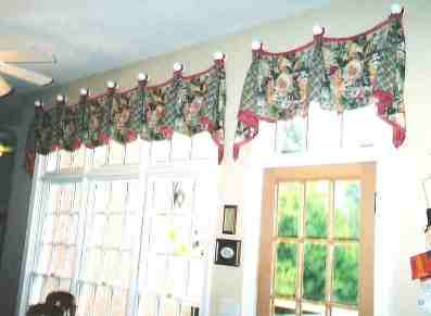 Breakfast custom windows including french door and transom windows