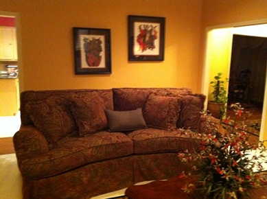 Brocade Chenille curved Sofa