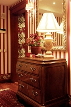 Traditional Foyer with Bombe chest
