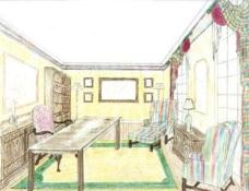 Sketch - Traditional Home Office