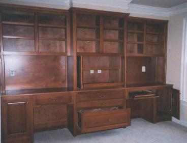 Partners desk wall with multiple storage options.